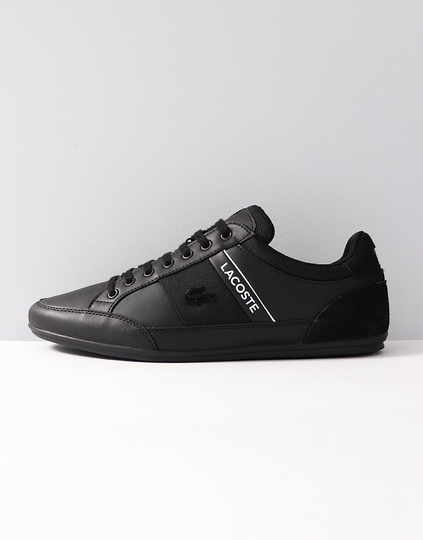 716eab5a1246 Lacoste Chaymon Leather Trainers Black - Terraces Menswear