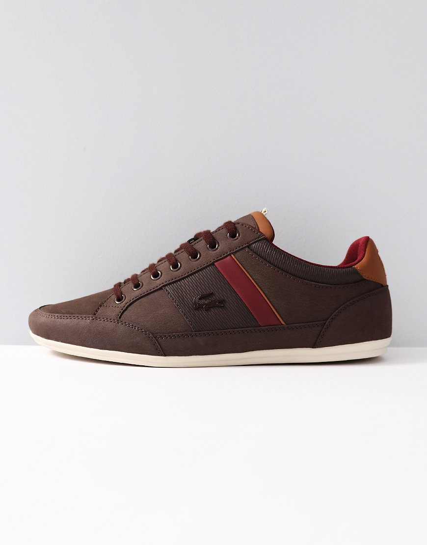 Lacoste Chaymon Leather Trainers Brown