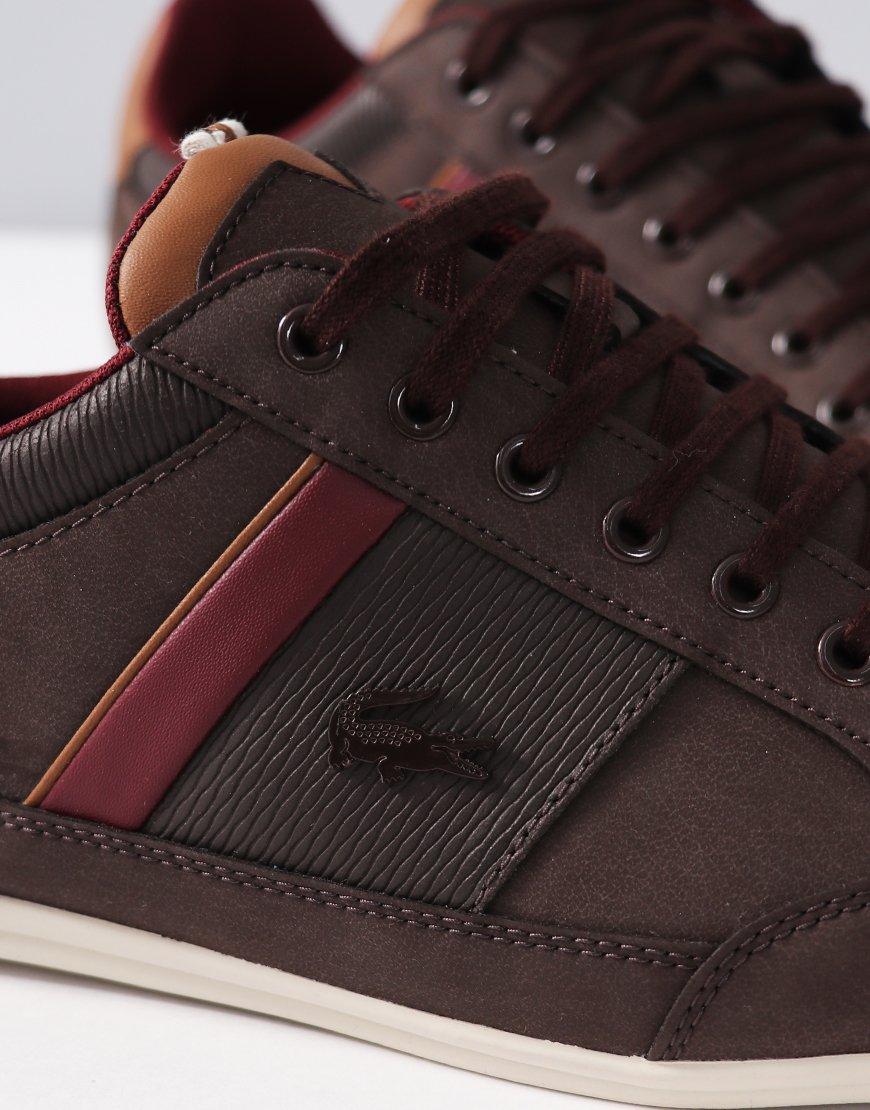 2e173605aebb9 Lacoste Chaymon Leather Trainers Brown - Terraces Menswear