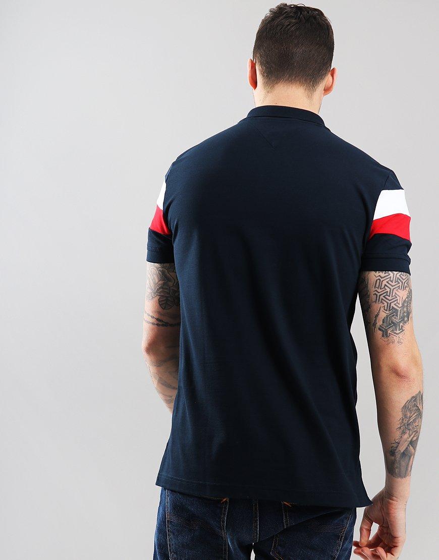 c4d8021a9 Tommy Hilfiger Chest Stripe Polo Shirt Sky Captain - Terraces Menswear
