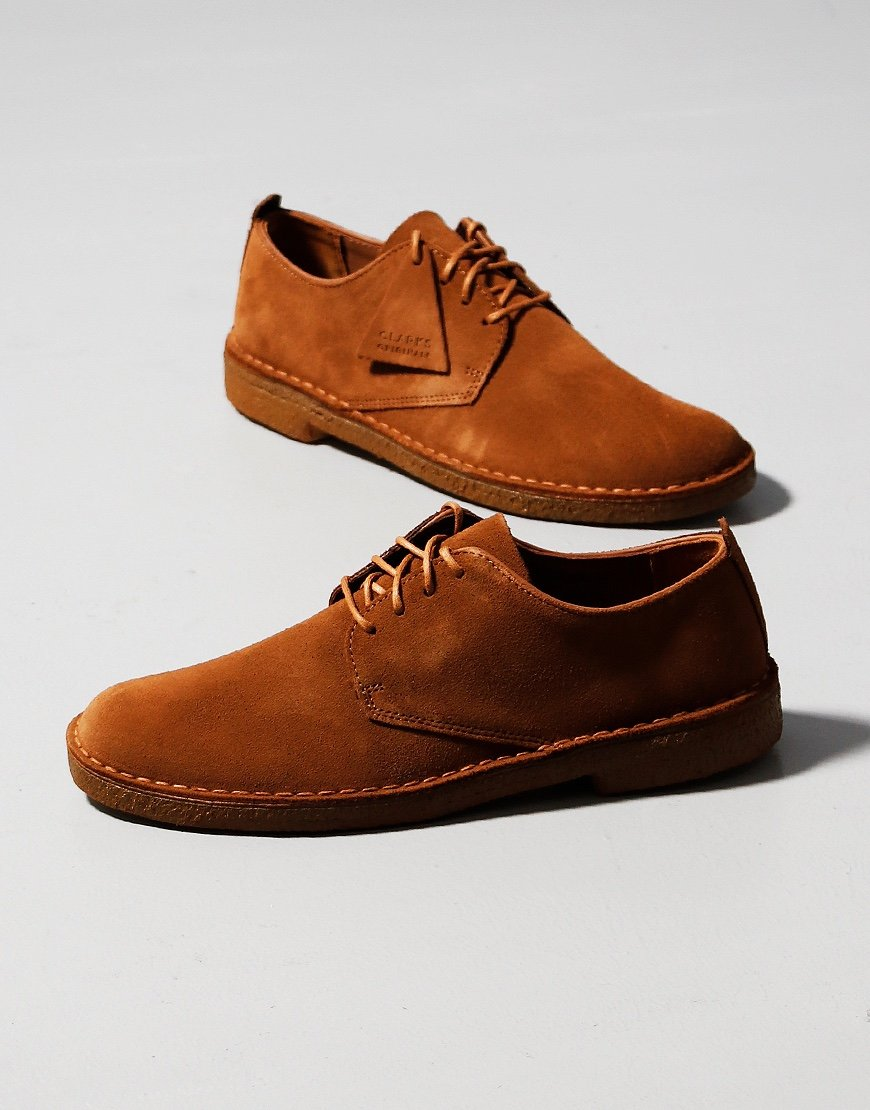 Clarks Originals Desert London Shoe Cola Suede
