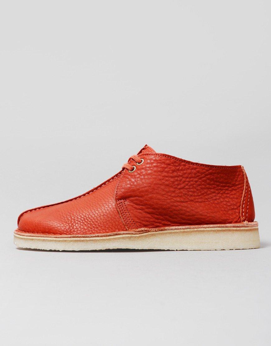 Clarks Originals Desert Trek Shoes Burnt Orange
