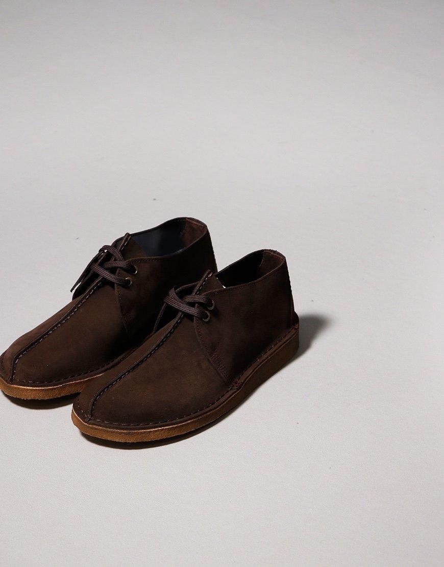 Clarks Originals Desert Trek Shoes Dark Brown