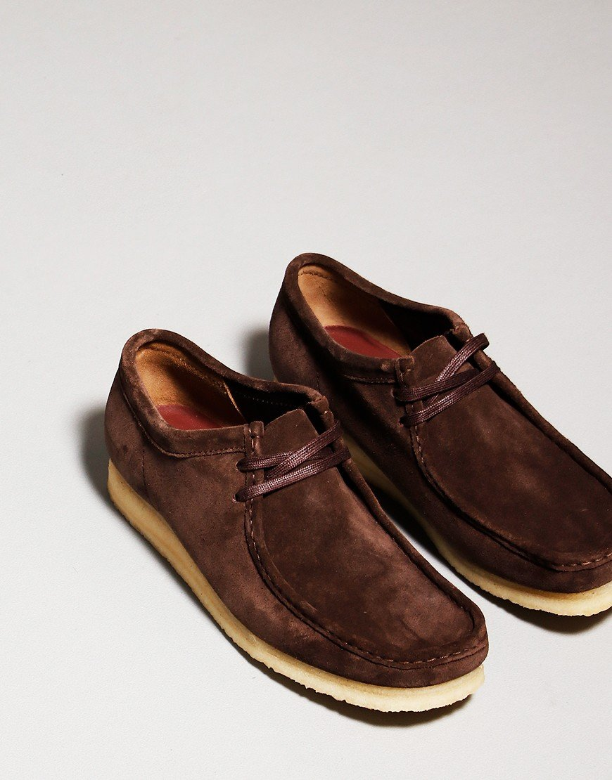 Clarks Originals Wallabee Shoe Dark Brown