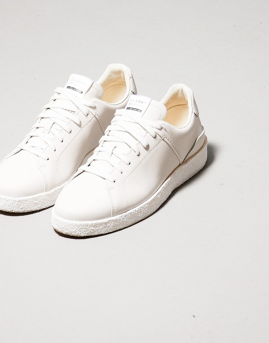 Clarks Tormatch Trainers White Leather