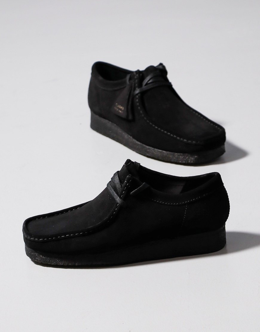 Clarks Originals Wallabee Boot Black Suede