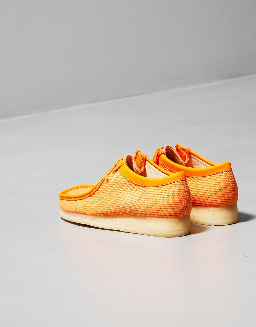 Clarks Originals Wallabee Boot Orange Textile