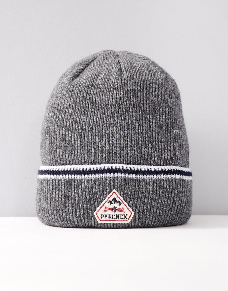 Pyrenex Colin Knitted Hat Med Grey