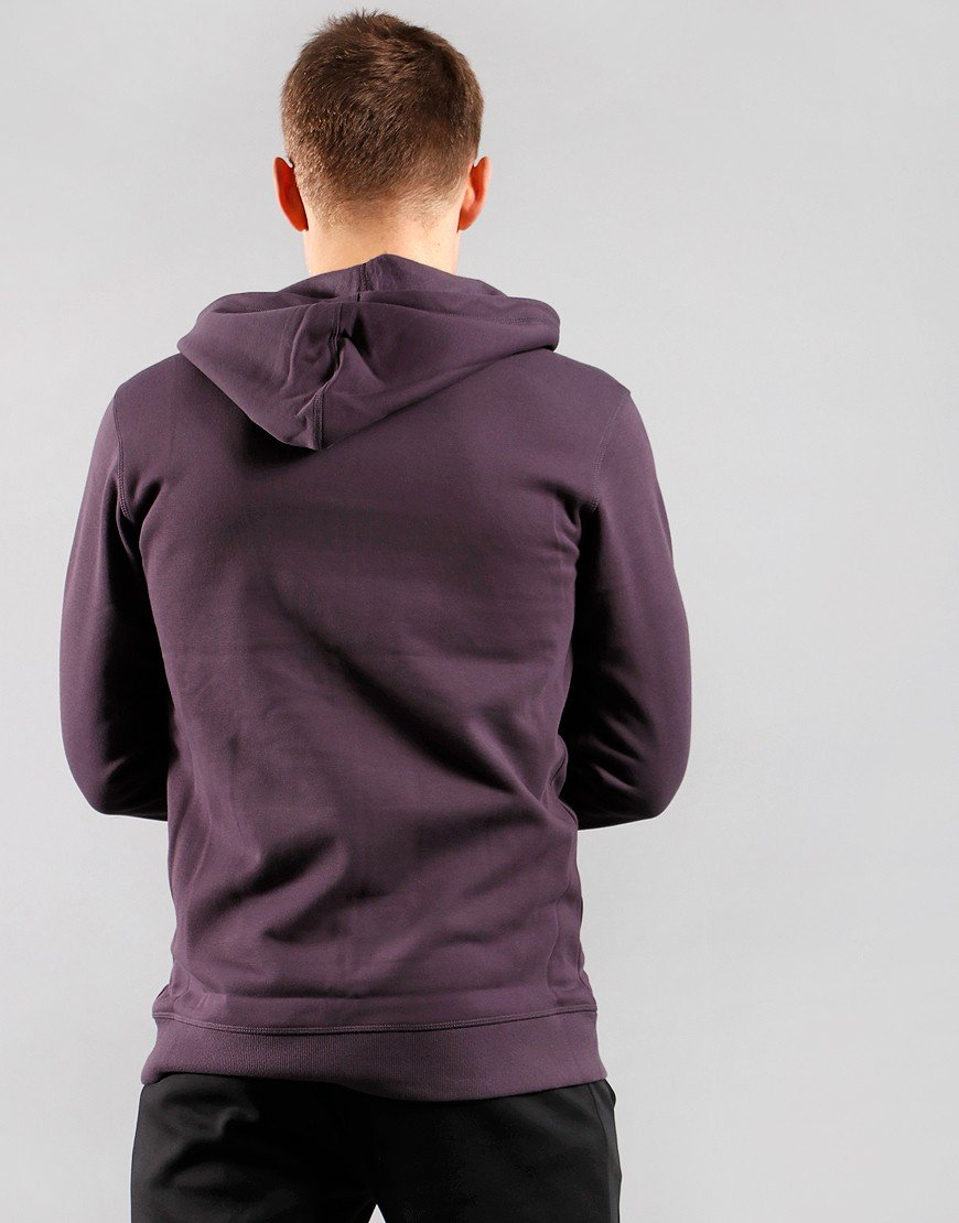 Columbia Logo Fleece Hoodie Dark Purple
