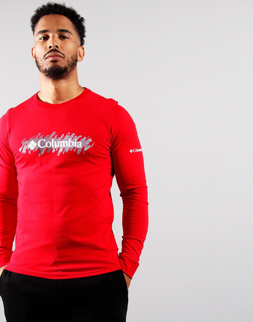 Columbia Long Sleeved Lodge T-Shirt Red