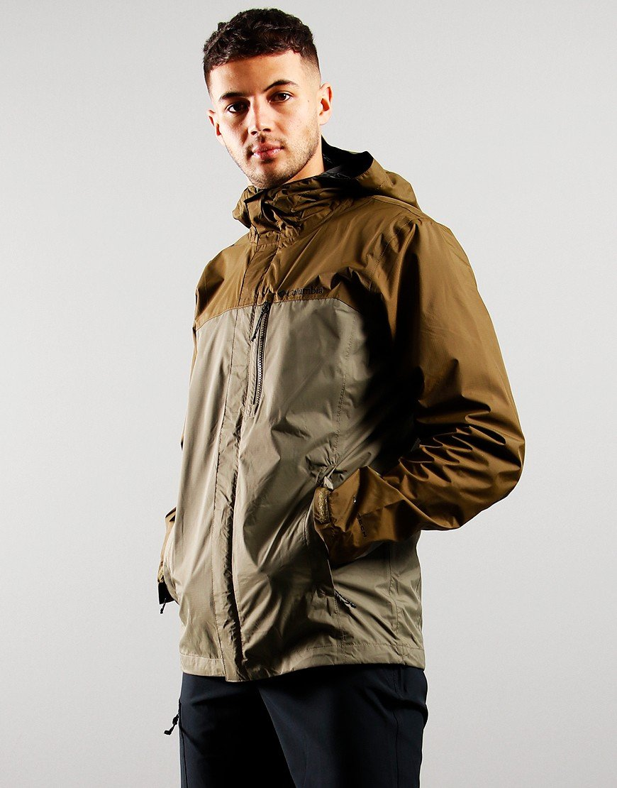Columbia Pouring Adventure Jacket Stone Green