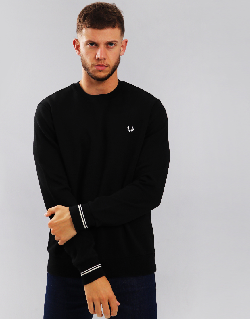 Fred Perry Crew Sweat Black