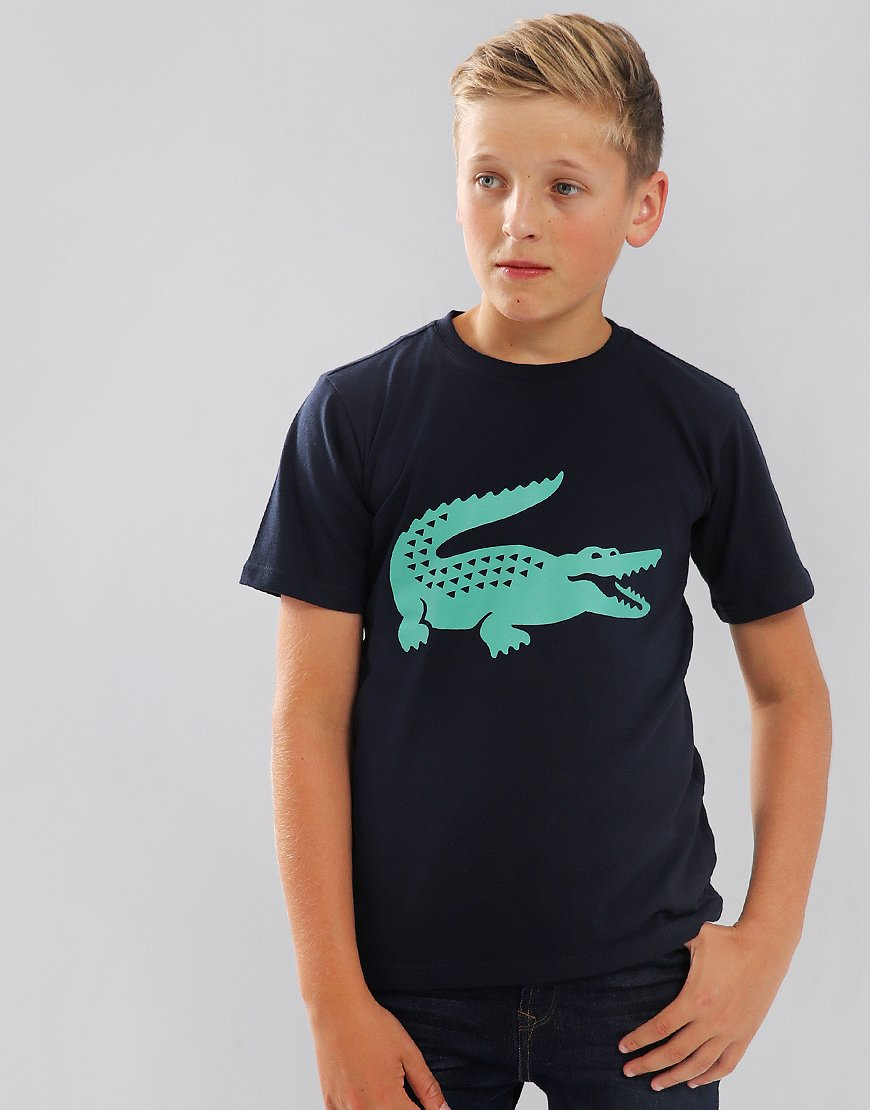 Lacoste Kids Sport Technical Croc T-Shirt Navy Blue/Papeete