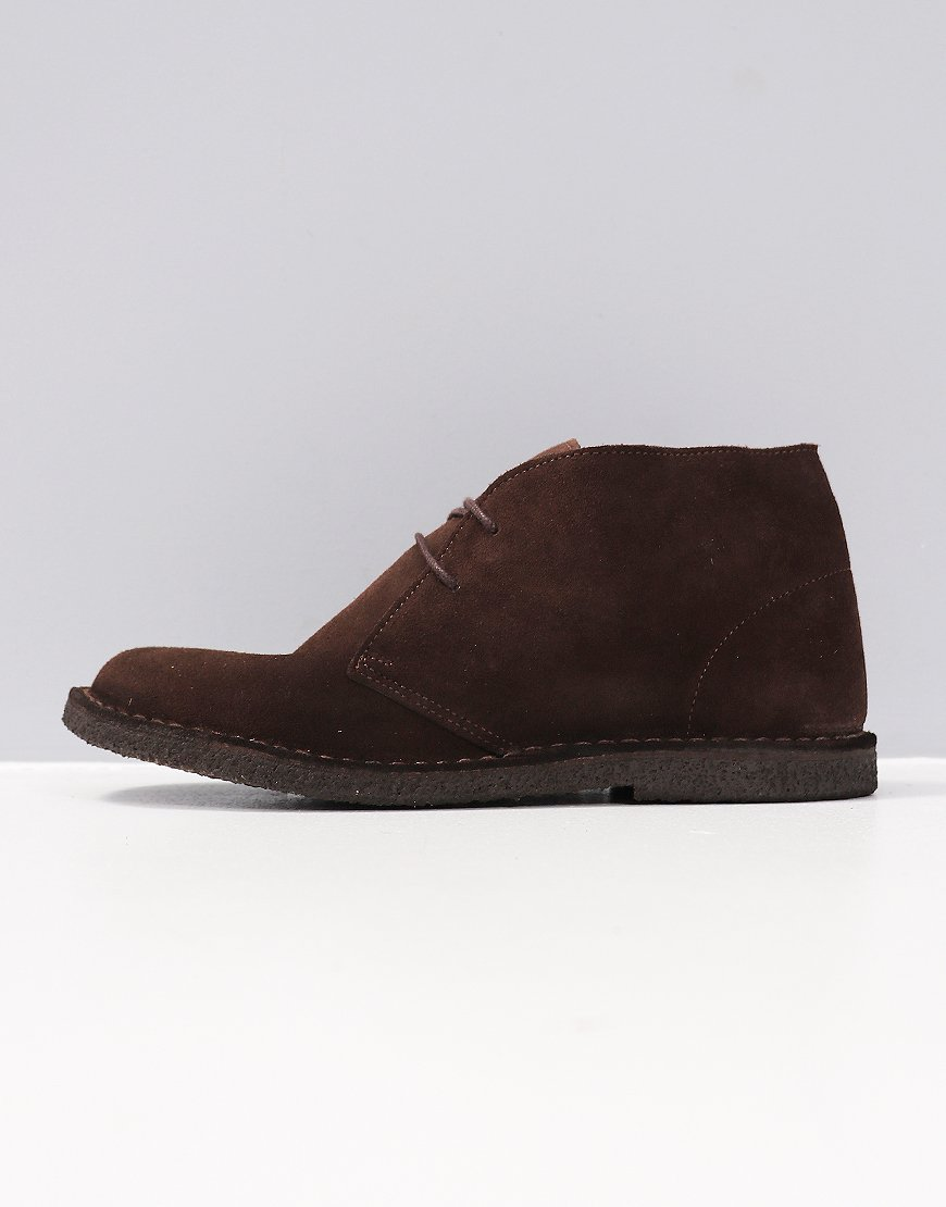 Pretty Green Suede Desert Boot Chocolate