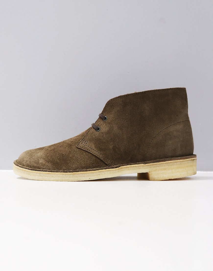 e85aa86aa4bb53 Clarks Originals Desert Boot Olive Suede - Terraces Menswear