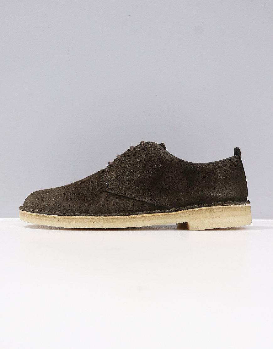 Clarks Originals Desert London Shoe Dark Olive