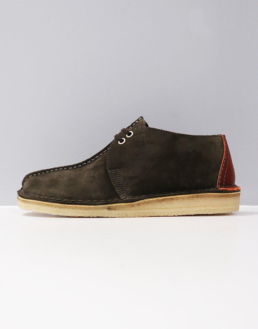 Clarks Originals Desert Trek Boots Dark Green