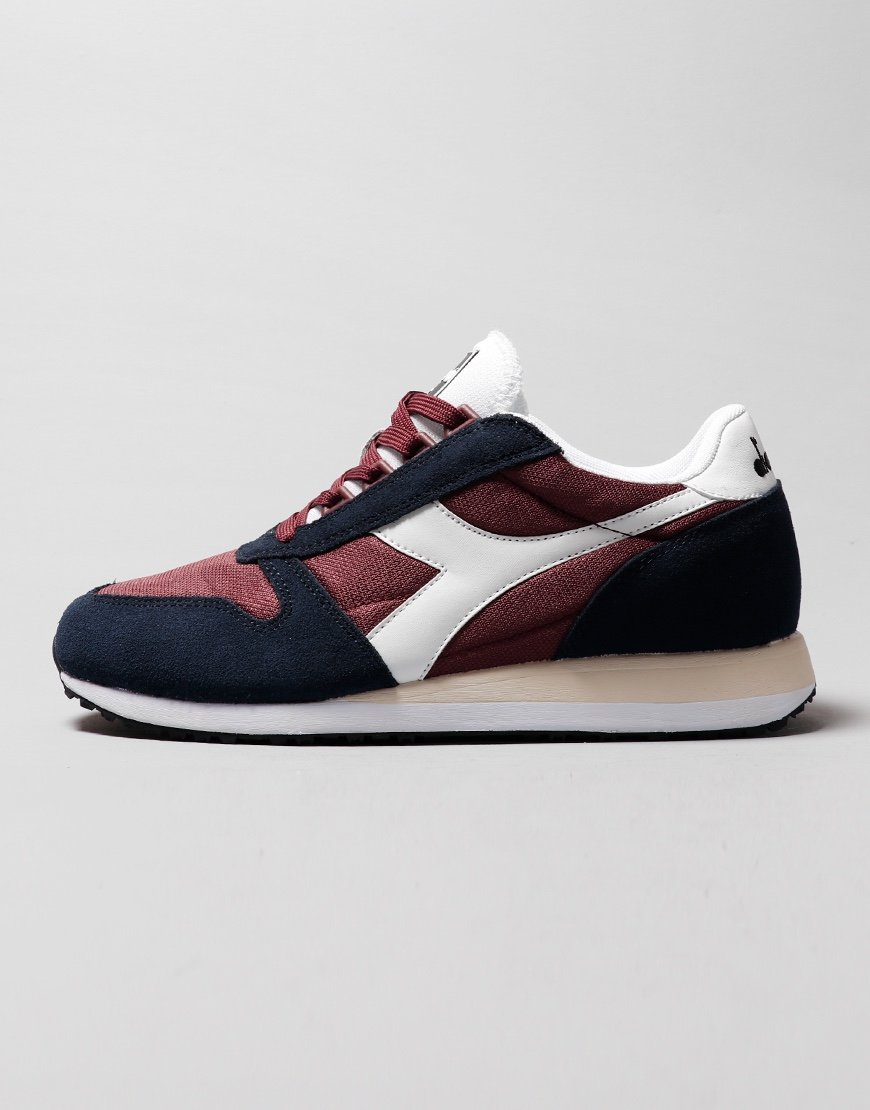 Diadora Caiman Trainers  Blue Night/Burgundy