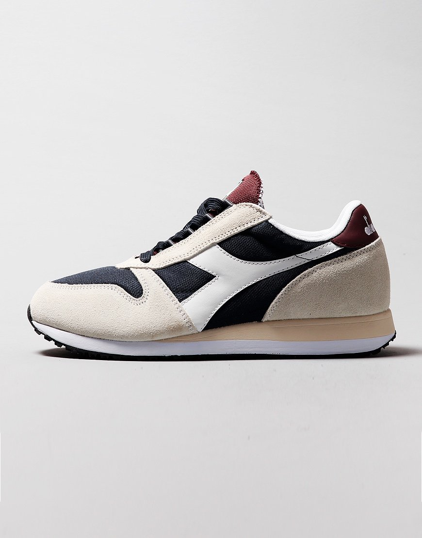 Diadora Caiman Trainers  White/Blue Denim