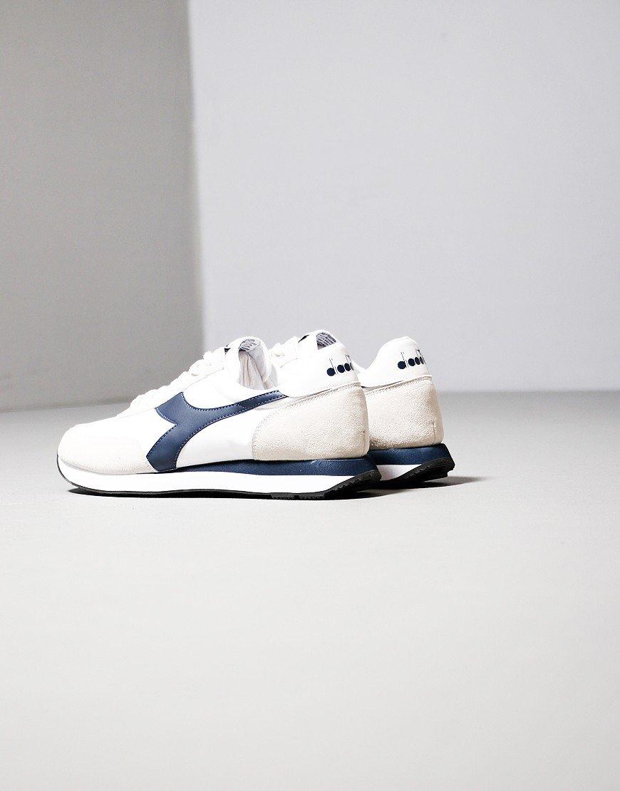 Diadora Koala Trainers White/Blue Denim