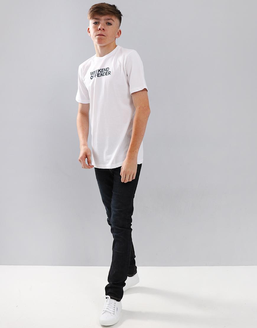 Weekend Offender Kids Dove Font T-Shirt White