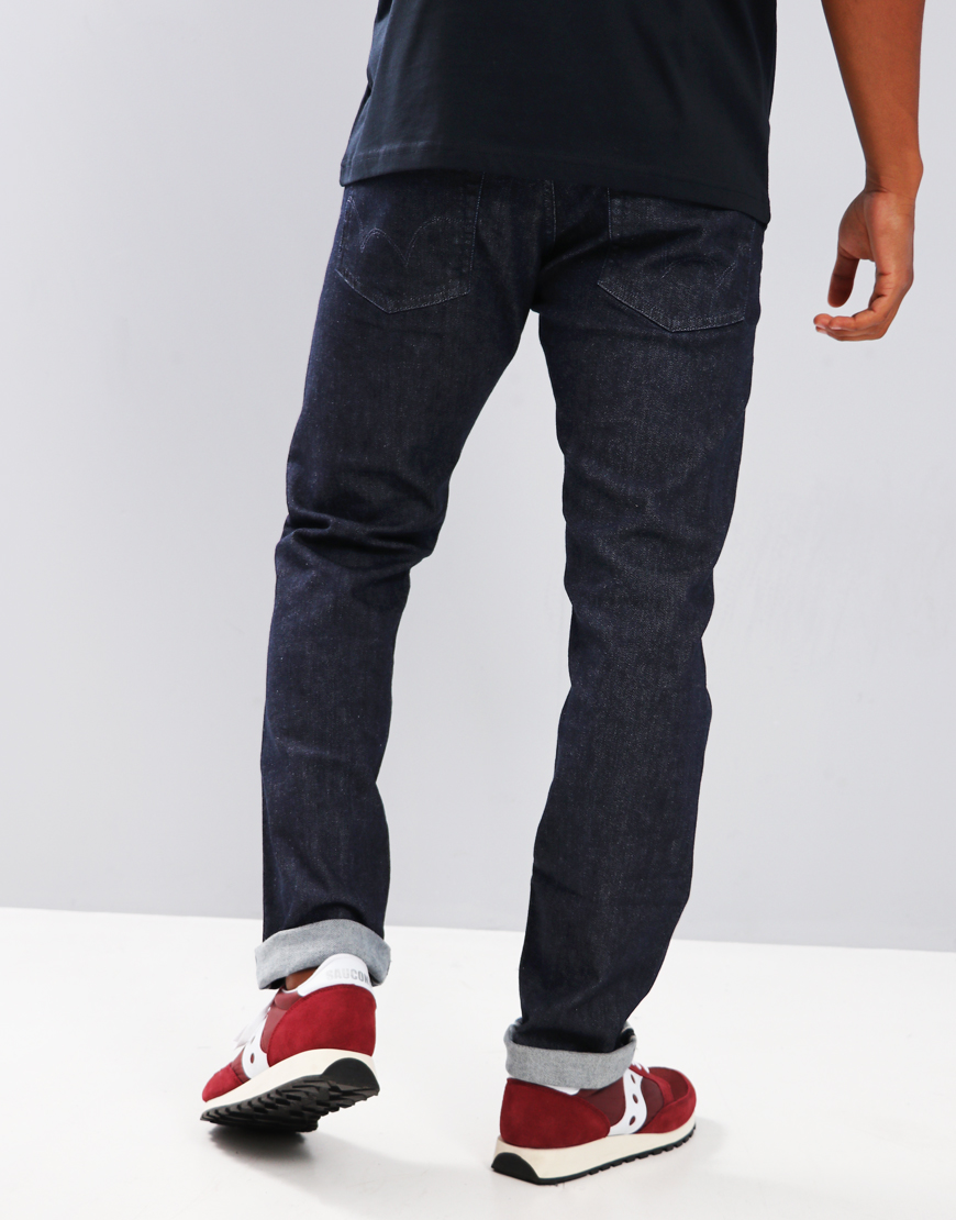 Edwin ED-55 Relaxed Tapered Red Listed Selvage Jeans Blue Rinsed