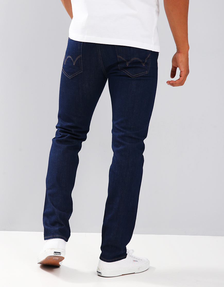 Edwin ED-80 Slim Tapered Jeans Power Blue Rinsed