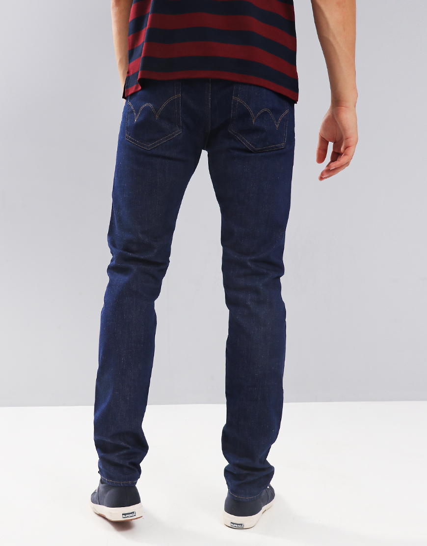 Edwin ED-85 Slim Tapered Drop Crotch CS Power Blue Rinsed