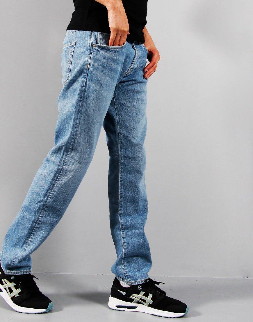 EDWIN ED-55 Regular Tapered Left Hand Denim Jeans Blue Asiru