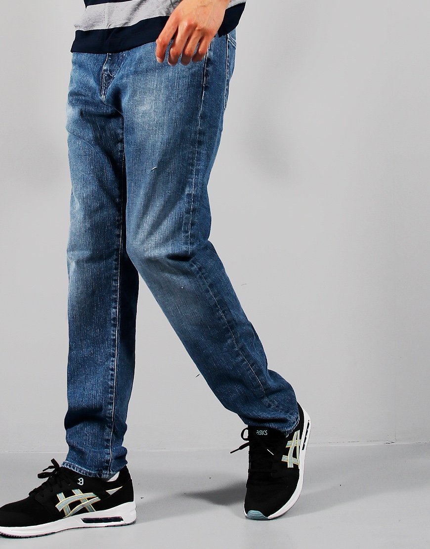 EDWIN ED-55 Regular Tapered Yuuki Denim Blue Tsukiya