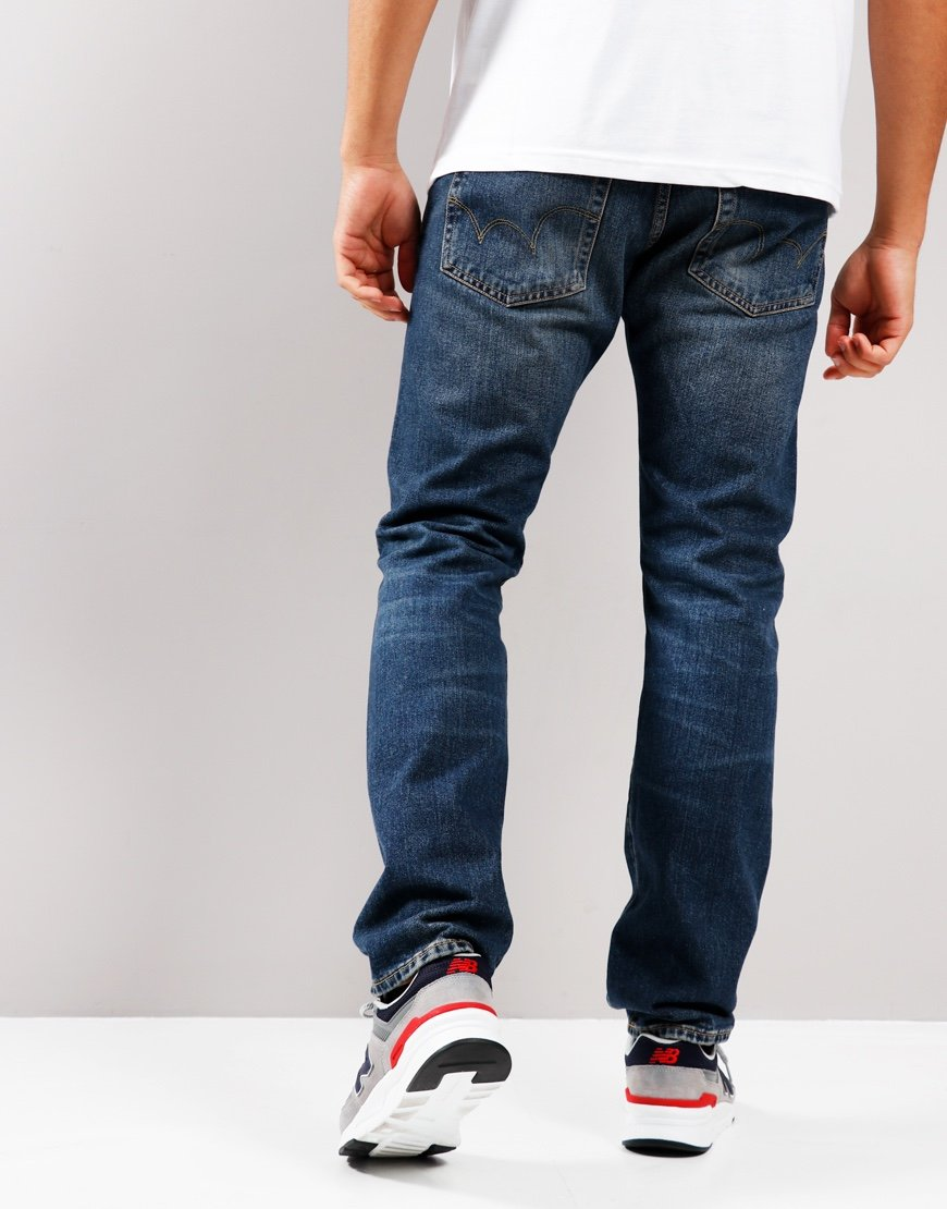 EDWIN ED-55 Regular Tapered Yoshiko Left Hand Jeans Akira Wash