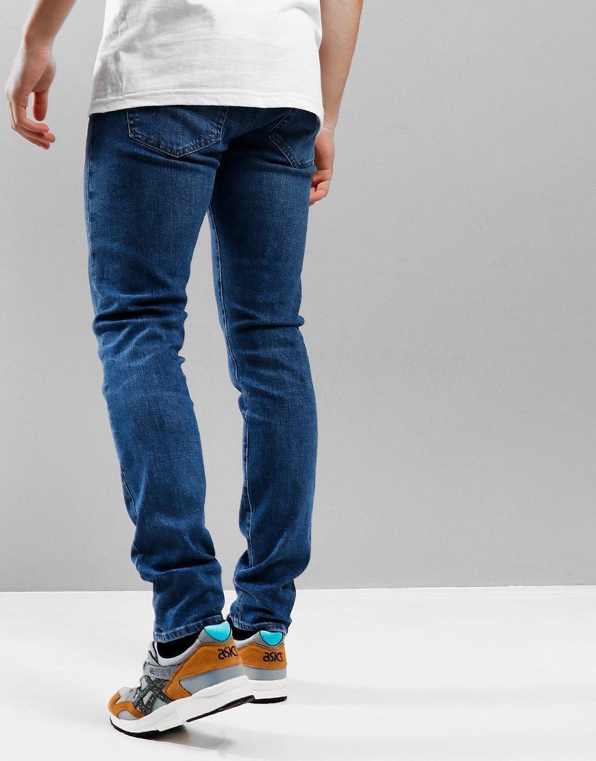 Edwin ED-85 Slim Tapered Drop Crotch Yuuki Jeans Blue Tsukiya Wash
