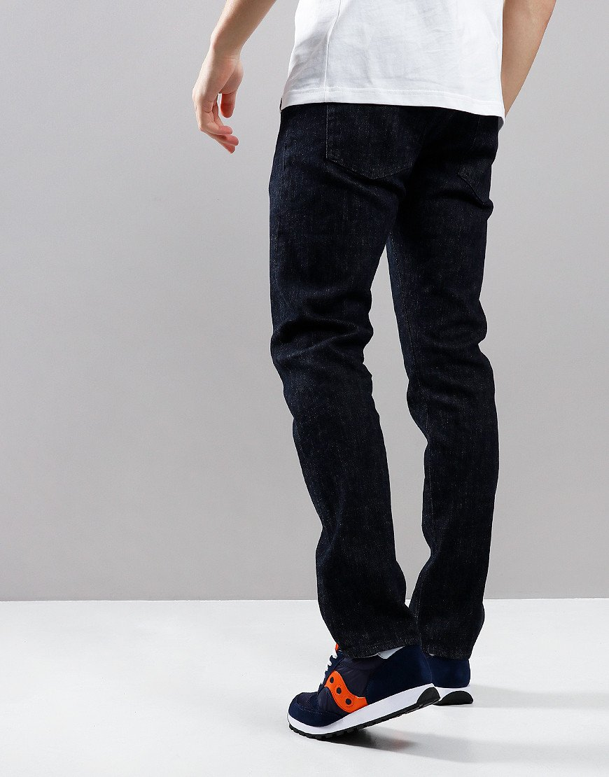 EDWIN ED-55 Regular Tapered Yuuki Left Hand Jeans Blue Rinsed