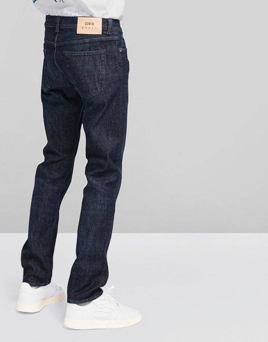 EDWIN ED-80 Slim Tapered CS Yuuki Denim Jeans Blue Taiki Wash