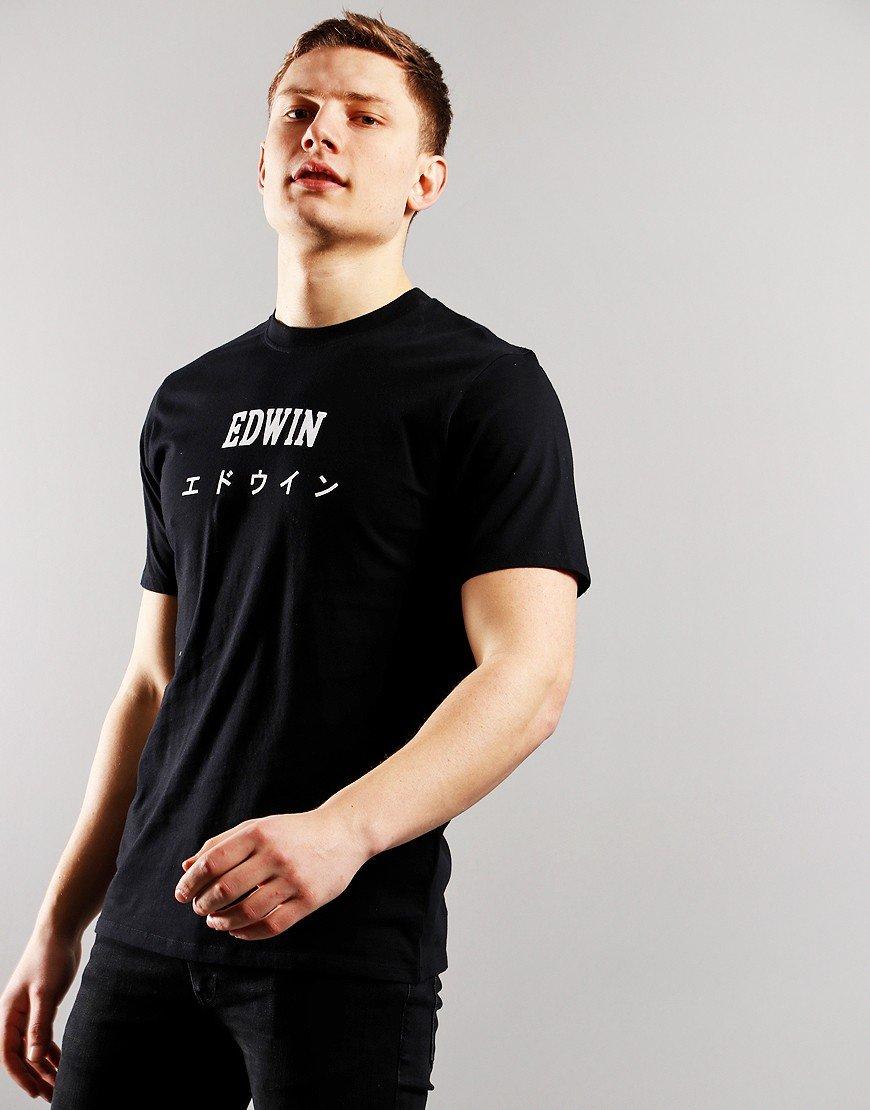 EDWIN Japan T-Shirt  Black