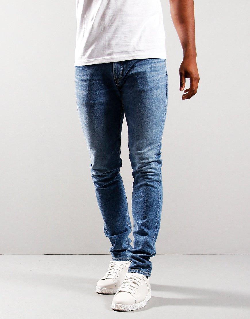 EDWIN Slim Tape Kaihara Jeans Denim Blue Mid Used