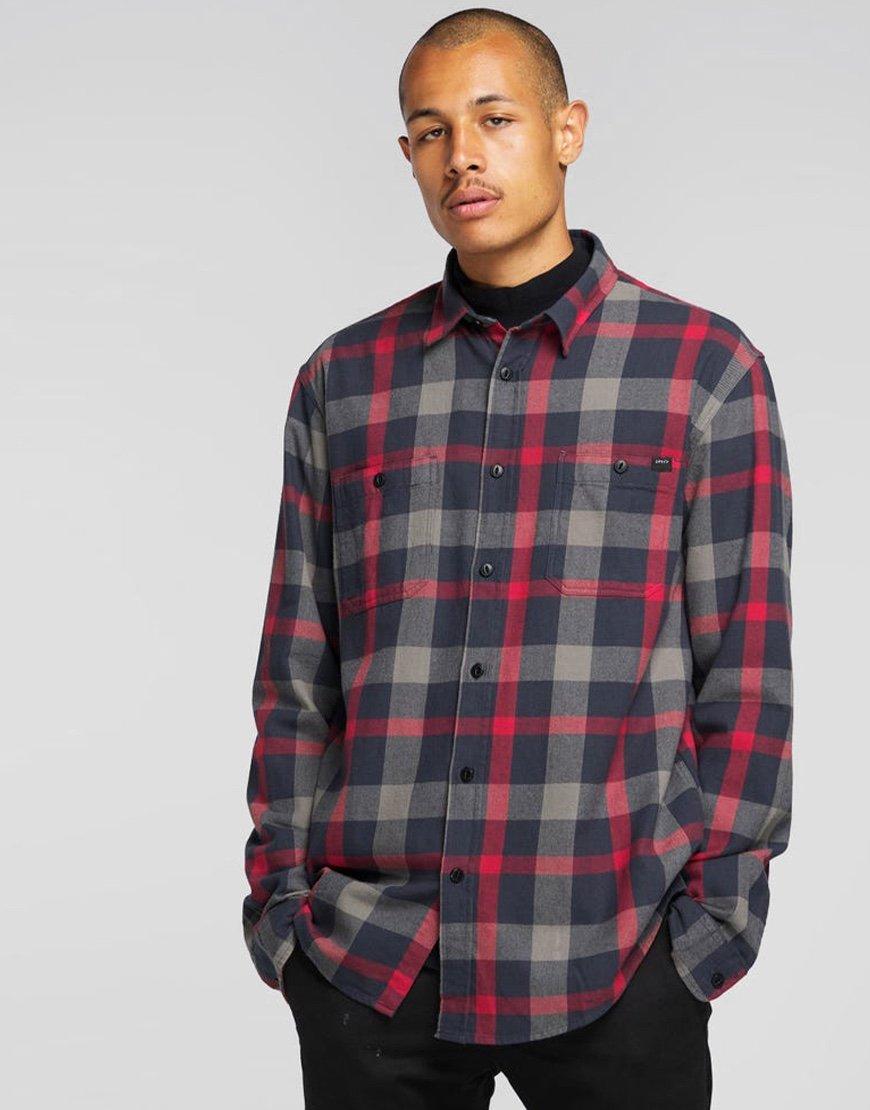EDWIN Labour  Shirt Ebony Garment Dyed