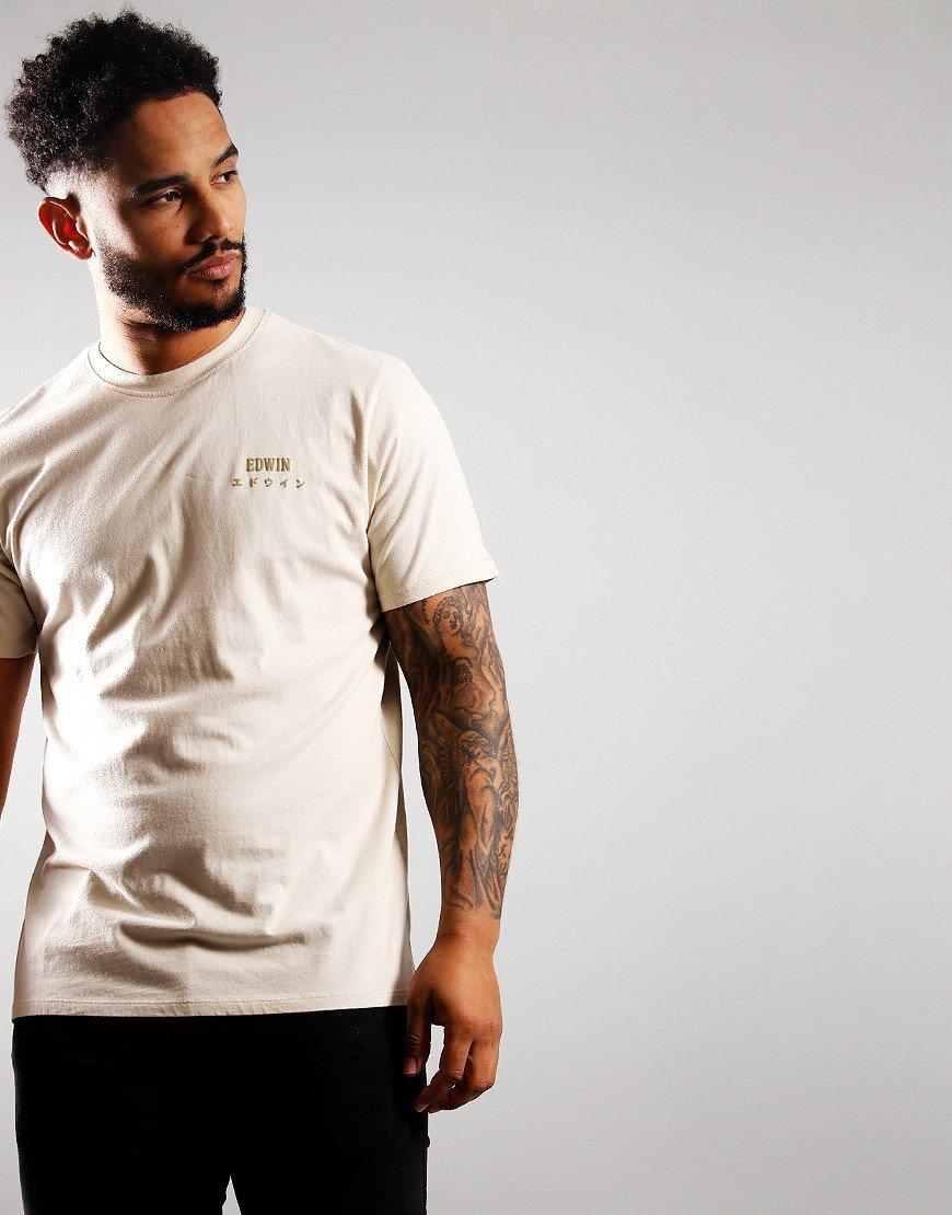 EDWIN Logo Chest T-Shirt Pelican