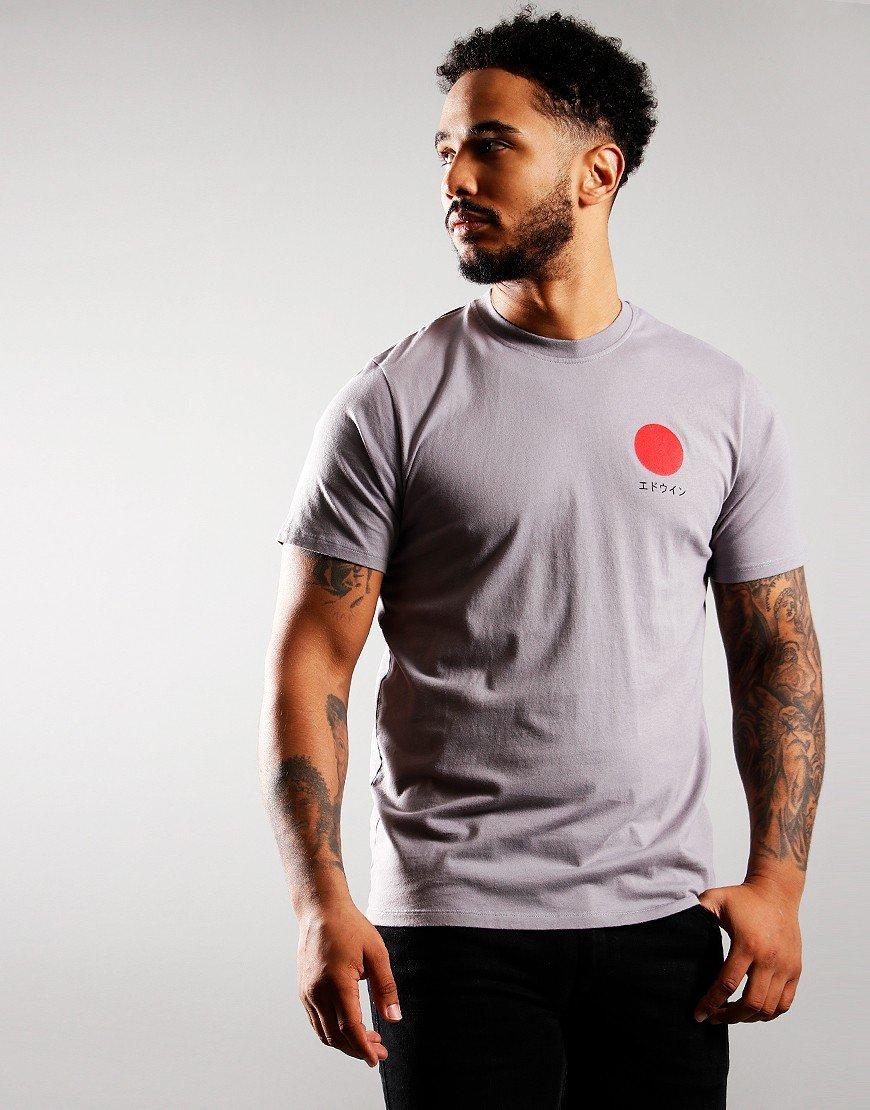 EDWIN Japanese Sun T-Shirt Fog Grey