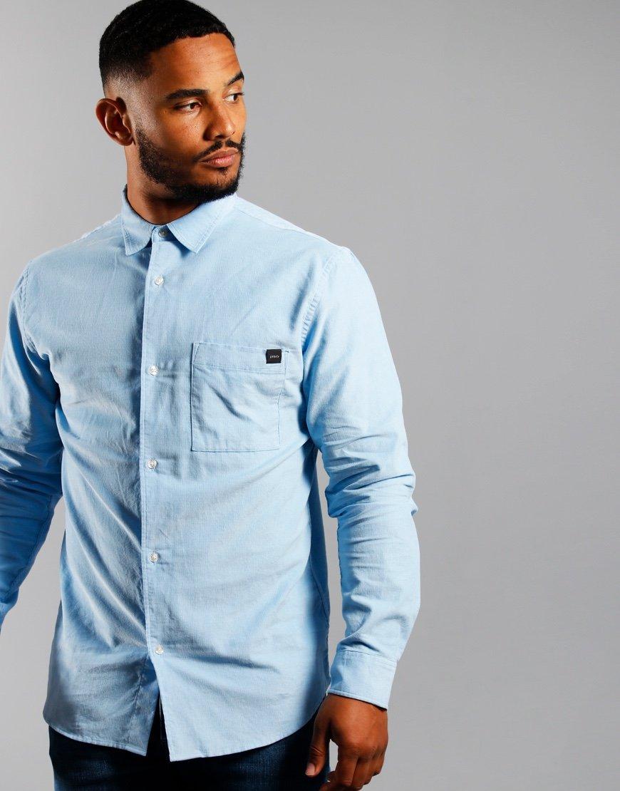EDWIN Minimal Babycord Shirt Baby Blue