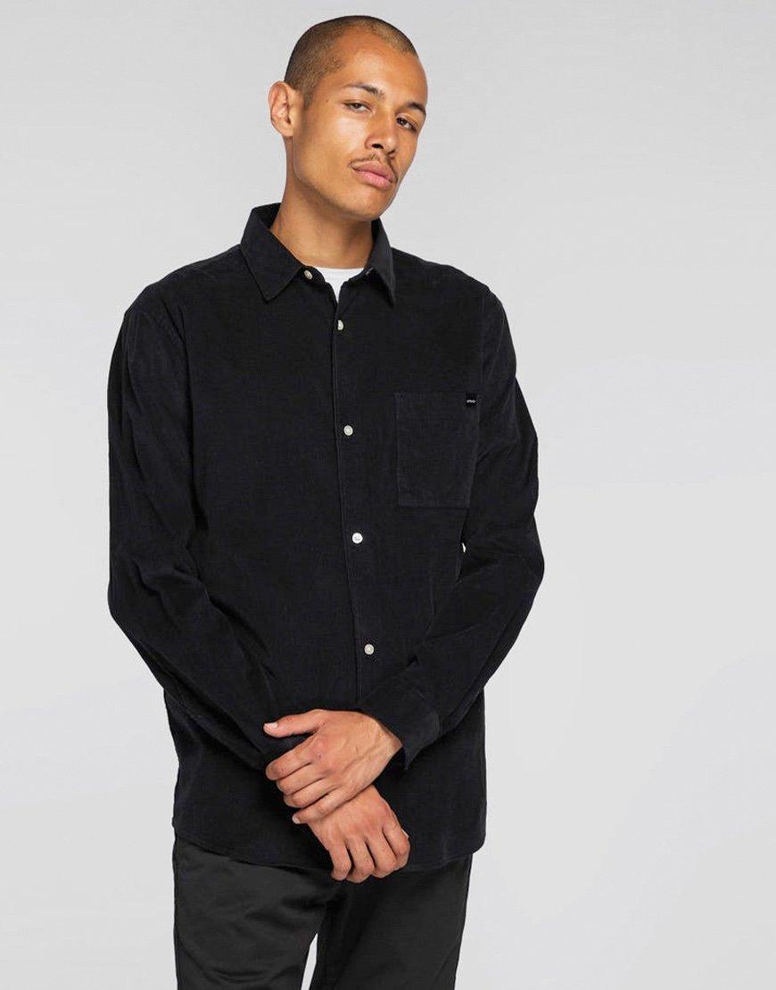 EDWIN Minimal Babycord Shirt Black