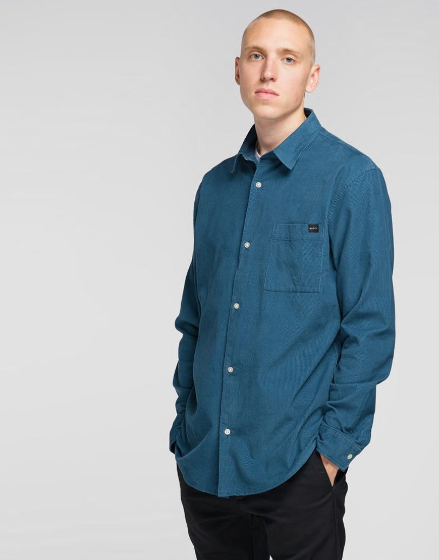 EDWIN Minimal Babycord Shirt  Legion Blue