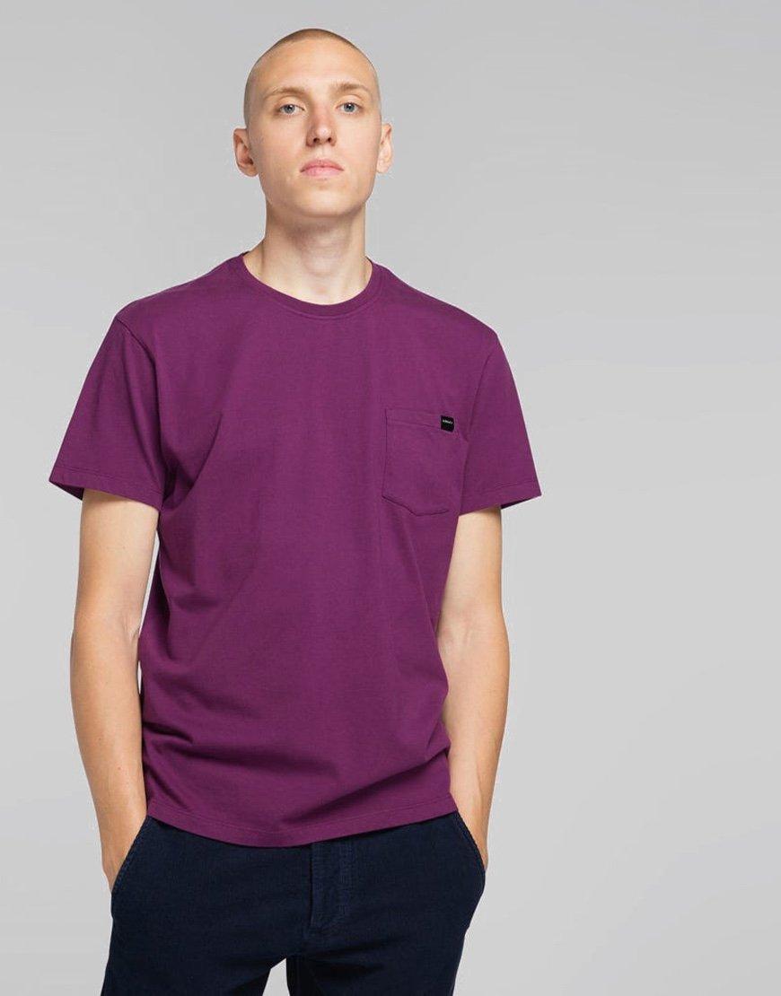 EDWIN Chest Pocket T-shirt Dark Purple