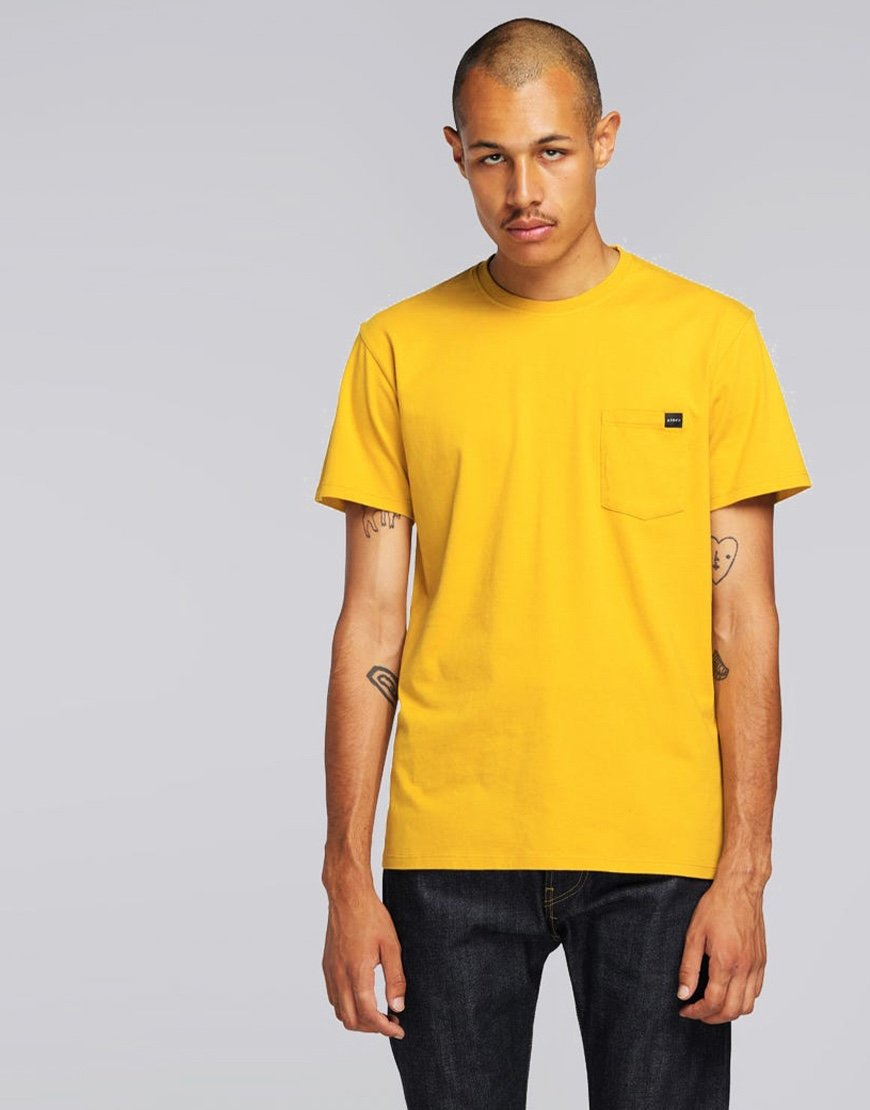 EDWIN Chest Pocket T-shirt Harvest Gold Garment Washed