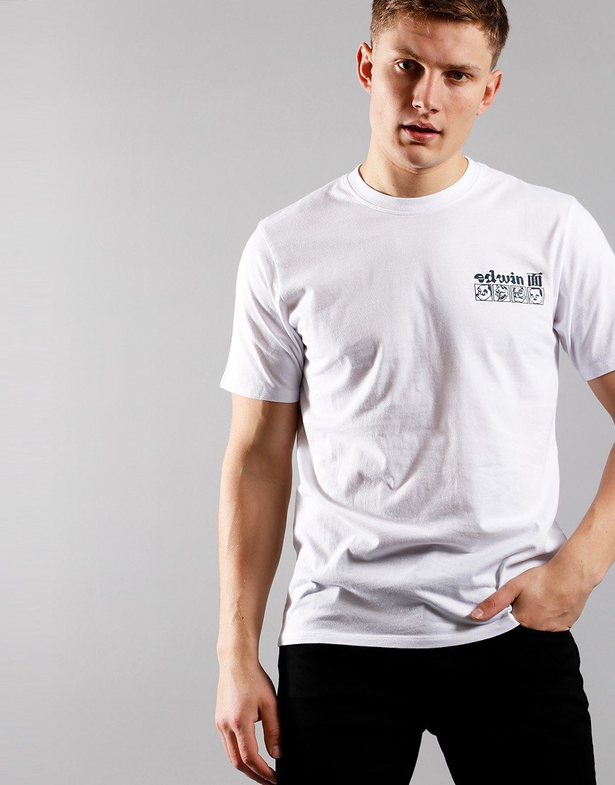 EDWIN Hokusai T-shirt White