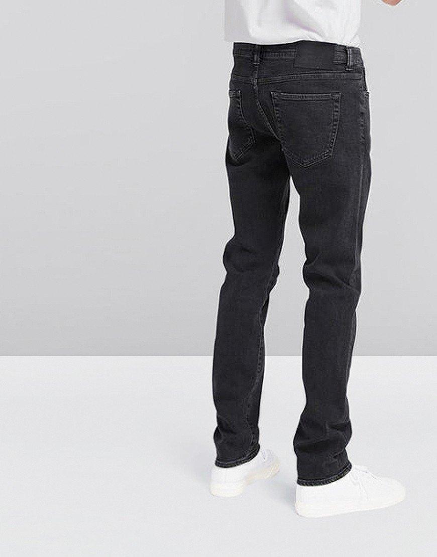 EDWIN ED-80 Slim Tapered  Yoshiko Left Hand Jeans Black Kagami Wash