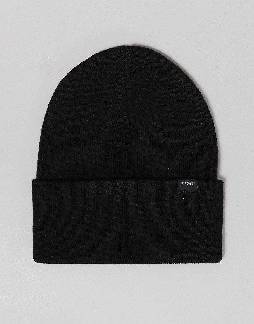 Edwin Kurt Beanie Hat Black