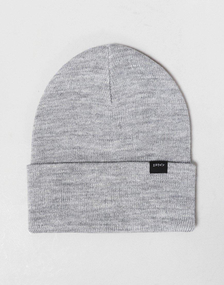 Edwin Kurt Beanie Hat Grey Marl