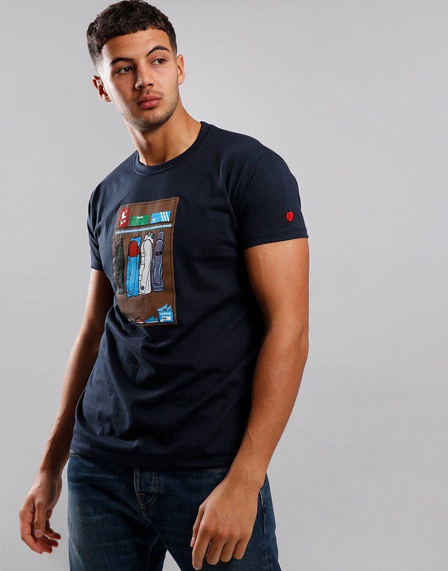 Eighties Casuals 80s Wardrobe T-Shirt Navy