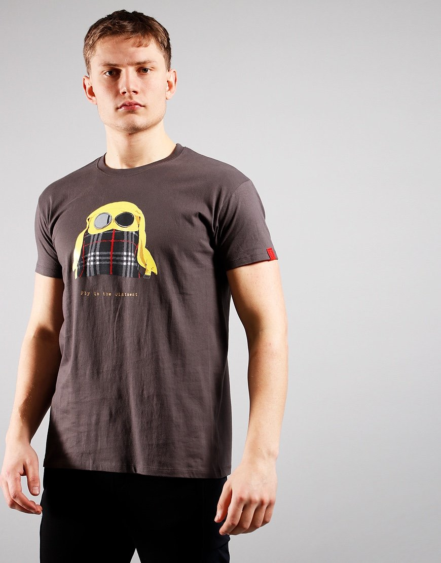 Eighties Casuals Fly Ointment T-Shirt Grey